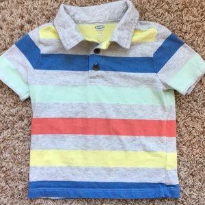2t boys striped polo shirt.